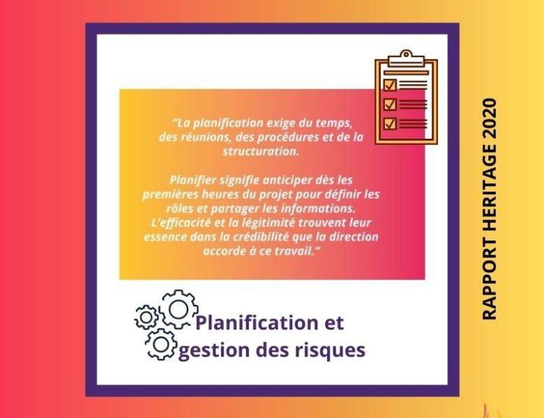 HÉRITAGE Paris 2020 – Planification stratégique et gestion des risques